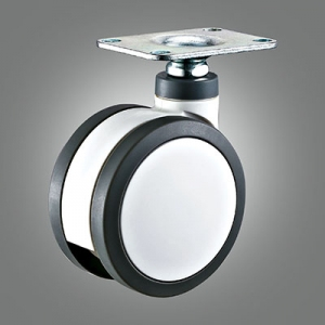 Medical Caster Series - Twin Wheel Top Plate Caster - Swivel