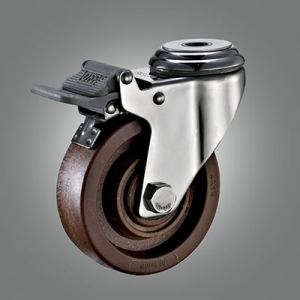 280℃ High Temperature Caster Series - Stainless Hollow Rivet Caster - Total Lock