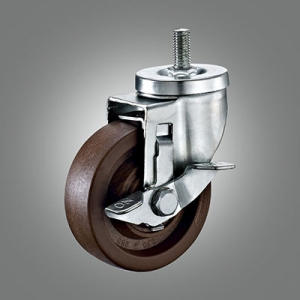 280℃ High Temperature Caster Series - Medium Duty Threaded Stem Caster - Side Lock