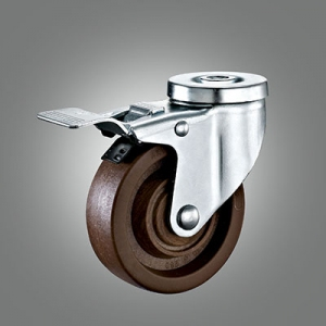 280℃ High Temperature Caster Series - Medium Duty Hollow Rivet Caster - Total Lock