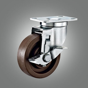 Medium Duty Caster Series - 280℃ High Temperature Top Plate Caster - Side Lock