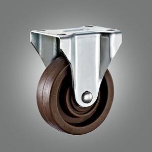 Medium Duty Caster Series - 280℃ High Temperature Top Plate Caster - Rigid
