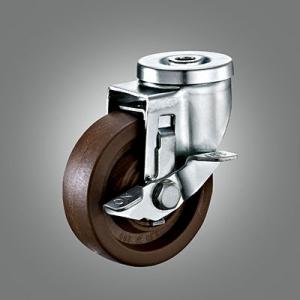 Medium Duty Caster Series - 280℃ High Temperature Hollow Rivet Caster - Side Lock