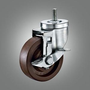 Medium Duty Caster Series - 280℃ High Temperature Threaded Stem Caster - Side Lock