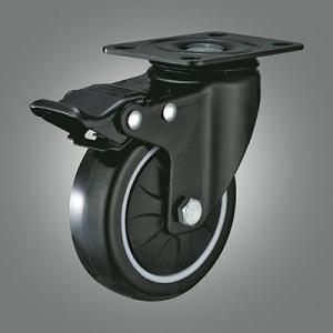Medium Light Duty Caster Series - PU Top Plate Caster - Total Lock
