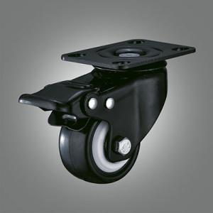 Small Jinzuan Caster Series - PU Top Plate Caster - Total Lock