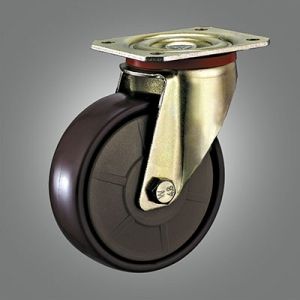 Special Caster Series - Yellow Zinc-plated PA Top Plate Caster - Swivel