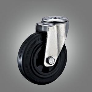 Industrial Caster Series - Rubber (PP Core) Hollow Rivet Caster - Swivel