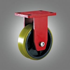 Extra Heavy Duty Caster Series - PU Top Plate Caster - Rigid