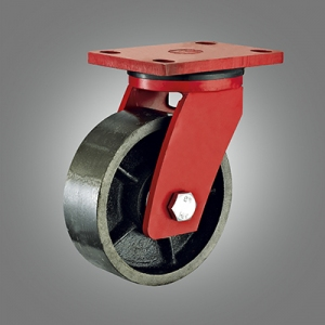 Extra Heavy Duty Caster Series - Cast Iron Top Plate Caster - Swivel