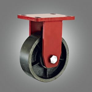 Extra Heavy Duty Caster Series - Cast Iron Top Plate Caster - Rigid