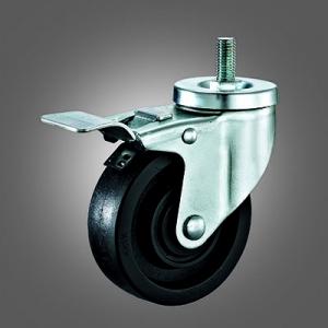 Medium Duty Caster Series - 220℃ High Temperature Threaded Stem Caster - Total Lock