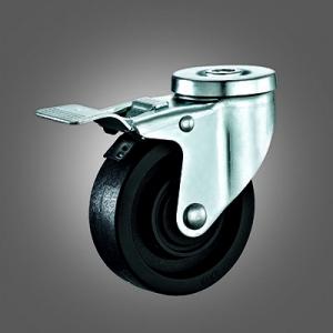 Medium Duty Caster Series - 220℃ High Temperature Hollow Rivet Caster - Total Lock