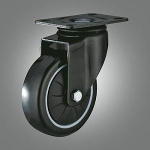 Medium Light Duty Caster Series - PU Top Plate Caster - Swivel