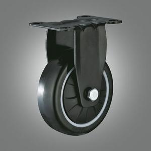 Medium Light Duty Caster Series - PU Top Plate Caster - Rigid