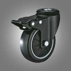 Medium Light Duty Caster Series - PU Hollow Rivet Caster - Total Lock