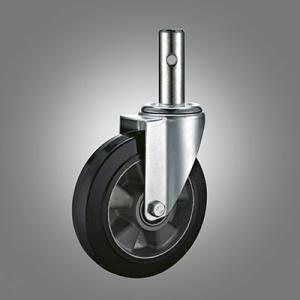 Industrial Caster Series - Rubber (Aluminium Core) Solid Stem Caster - Swivel