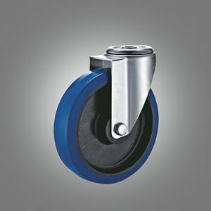 Industrial Caster Series - Elastic Rubber (PP Core) Hollow Rivet Caster - Swivel