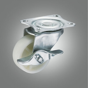 Light Duty Caster Series - Small Industrial PP Top Plate Caster - Side Lock