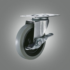 Light Duty Caster Series - TPR Top Plate Caster - Side Lock