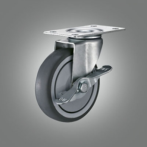 Light Duty Caster Series - TPR (with bearing) Top Plate Caster - Side Lock