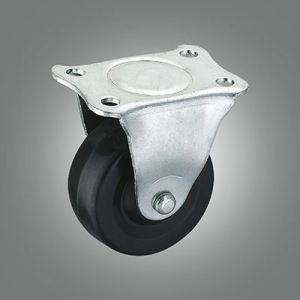 Light Duty Caster Series - Small Industrial Rubber Top Plate Caster - Rigid
