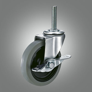 Light Duty Caster Series - TPR Threaded Stem Caster - Side Lock