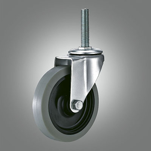 Light Duty Caster Series - TPR Threaded Stem Caster - Swivel