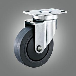 Medium Duty Caster Series - TPR (Flat) Top Plate Caster - Swivel