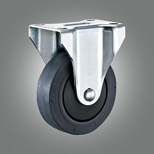 Medium Duty Caster Series - TPR (Flat) Top Plate Caster - Rigid
