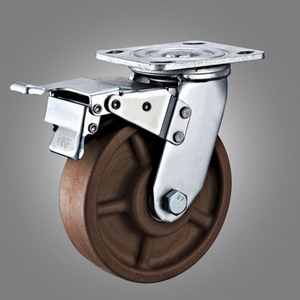 280℃ High Temperature Caster Series - Heavy Duty Top Plate Caster - Total Lock