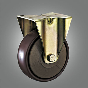 Special Caster Series - Yellow Zinc-plated PA Top Plate Caster - Rigid