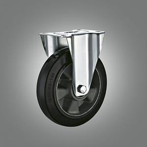 Industrial Caster Series - Rubber (Aluminium Core) Top Plate Caster - Rigid