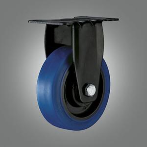 Medium Light Duty Caster Series - TPR (Flat) Top Plate Caster - Rigid
