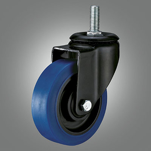 Medium Light Duty Caster Series - TPR (Flat) Threaded Stem Caster - Swivel