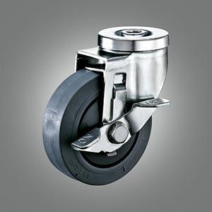 Medium Duty Caster Series - TPR (Flat) Hollow Rivet Caster - Side Lock