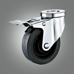 Medium Duty Caster Series - Conductive TPR Hollow Rivet Caster - Total Lock