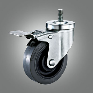 Medium Duty Caster Series - Anti Static TPR Threaded Stem Caster - Total Lock