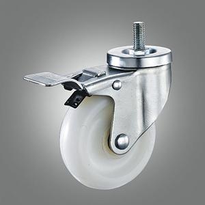 Medium Duty Caster Series - PA Threaded Stem Caster - Total Lock