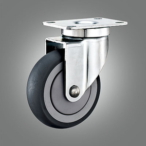 Medium Duty Caster Series - TPR (Round) Top Plate Caster - Swivel